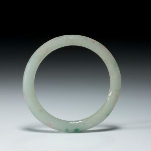 ANTIQUE CHINESE QING JADE GREEN BANGLE