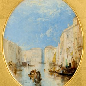 THOMAS CRESWICK OIL PAINTING VENICE GRAND CANAL