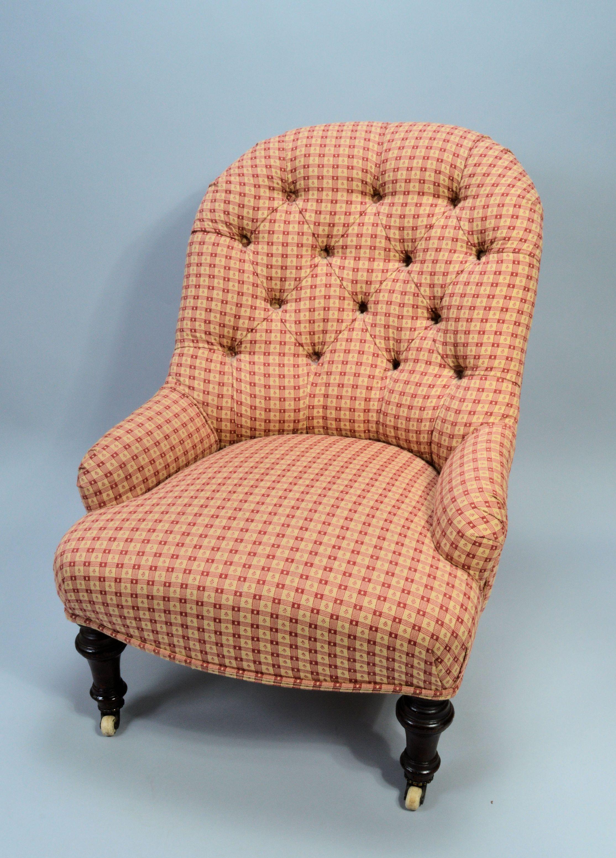 Antique nursing chair - Antique Victorian Nursing Chair Button Backed Dsc_0855_6010