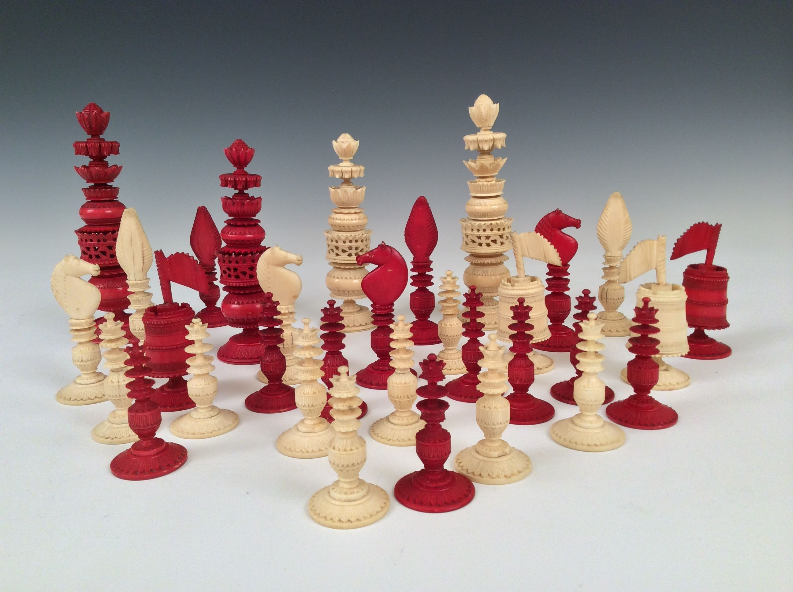 Ivory chess set pictures to pin on pinterest pinsdaddy - Collectible chess sets ...