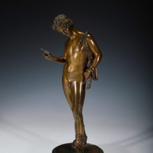 ANTIQUE GRAND TOUR BRONZE OF NARCISSUS