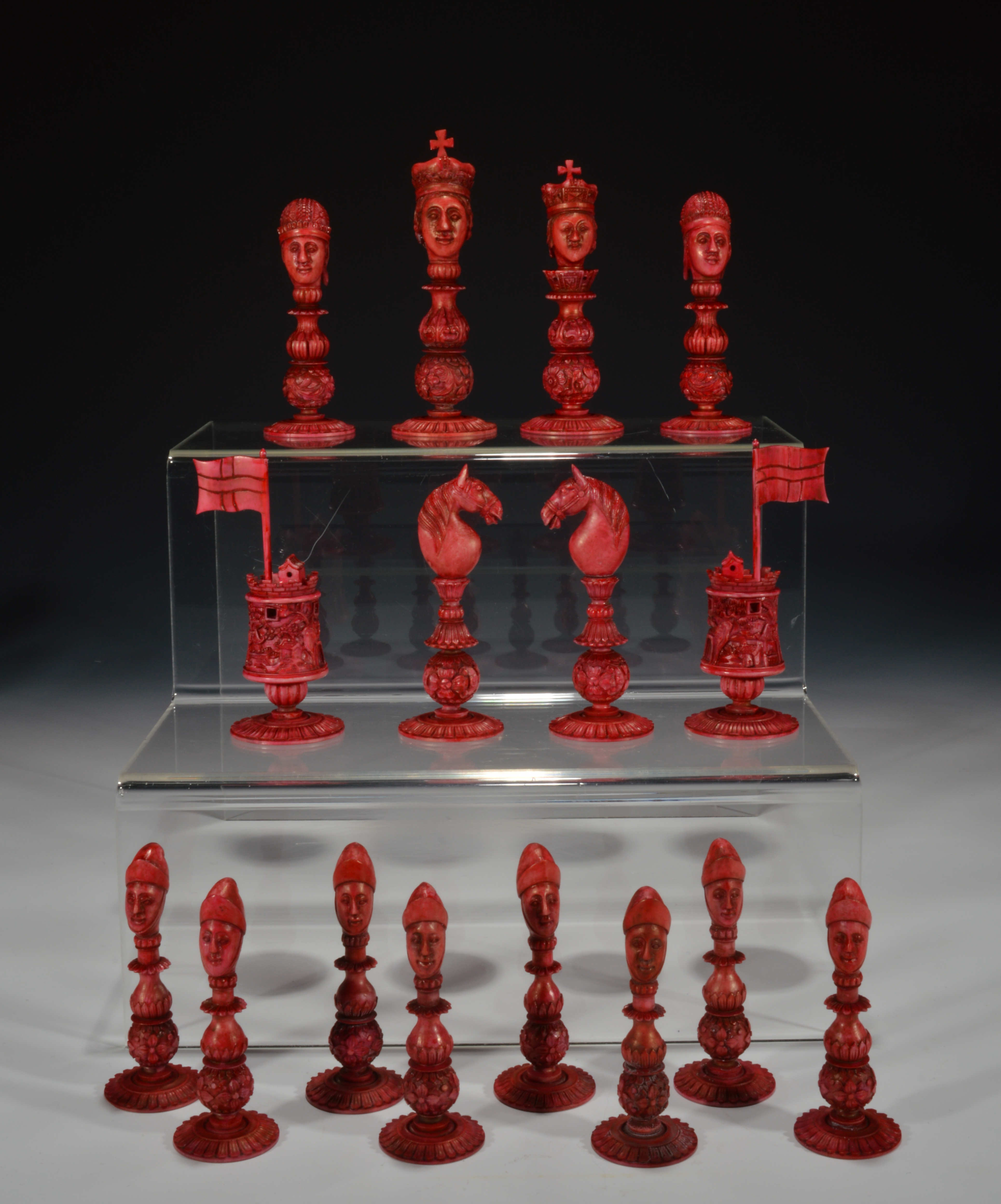 Antique macao ivory figural chess set - Collectible chess sets ...