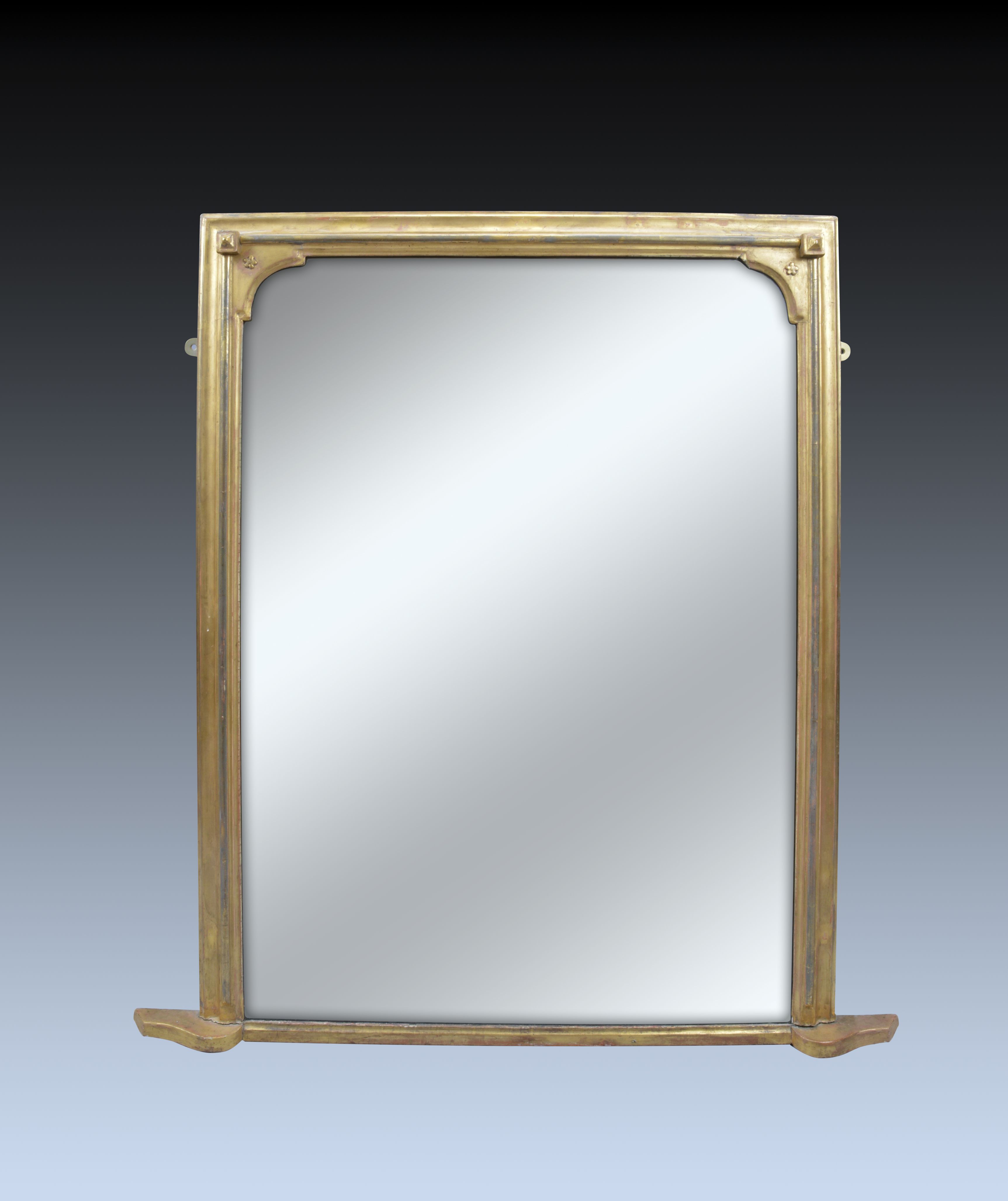 Antique 19th century gilt overmantle mirror for Overmantle mirror