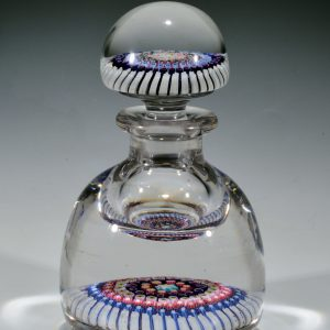 ANTIQUE MILLEFIORI INKWELL AND STOPPER