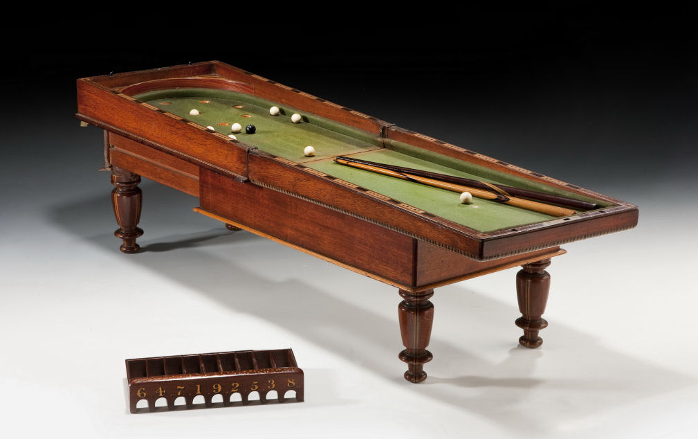 Folding miniature bagatelle games table richard gardner for 10 games in 1 table