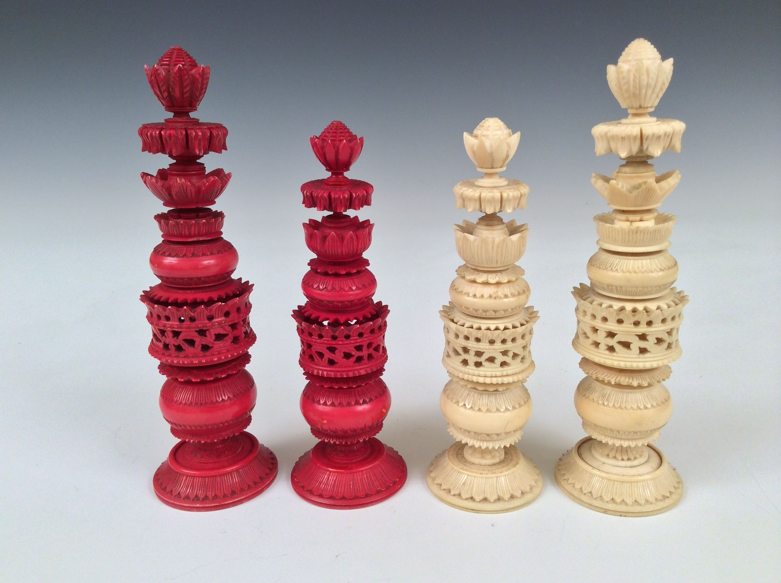 Antique anglo indian ivory chess set style of the world famous pepys sets - Collectible chess sets ...