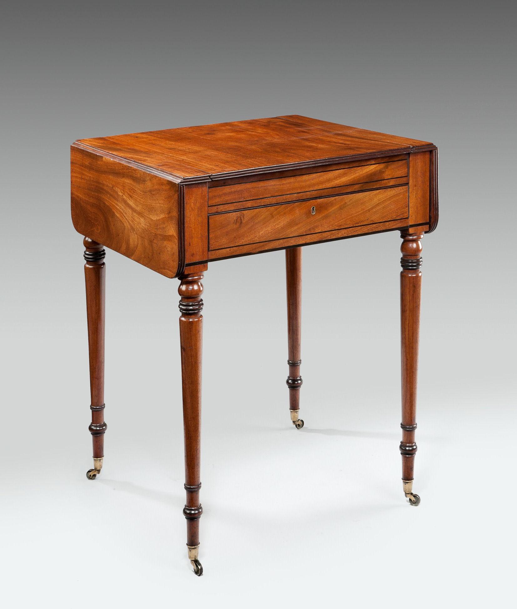 Antique Regency Pembroke Games Chess Backgammon Table