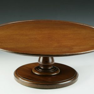 ANTIQUE LARGE MAHOGANY LAZY SUSAN