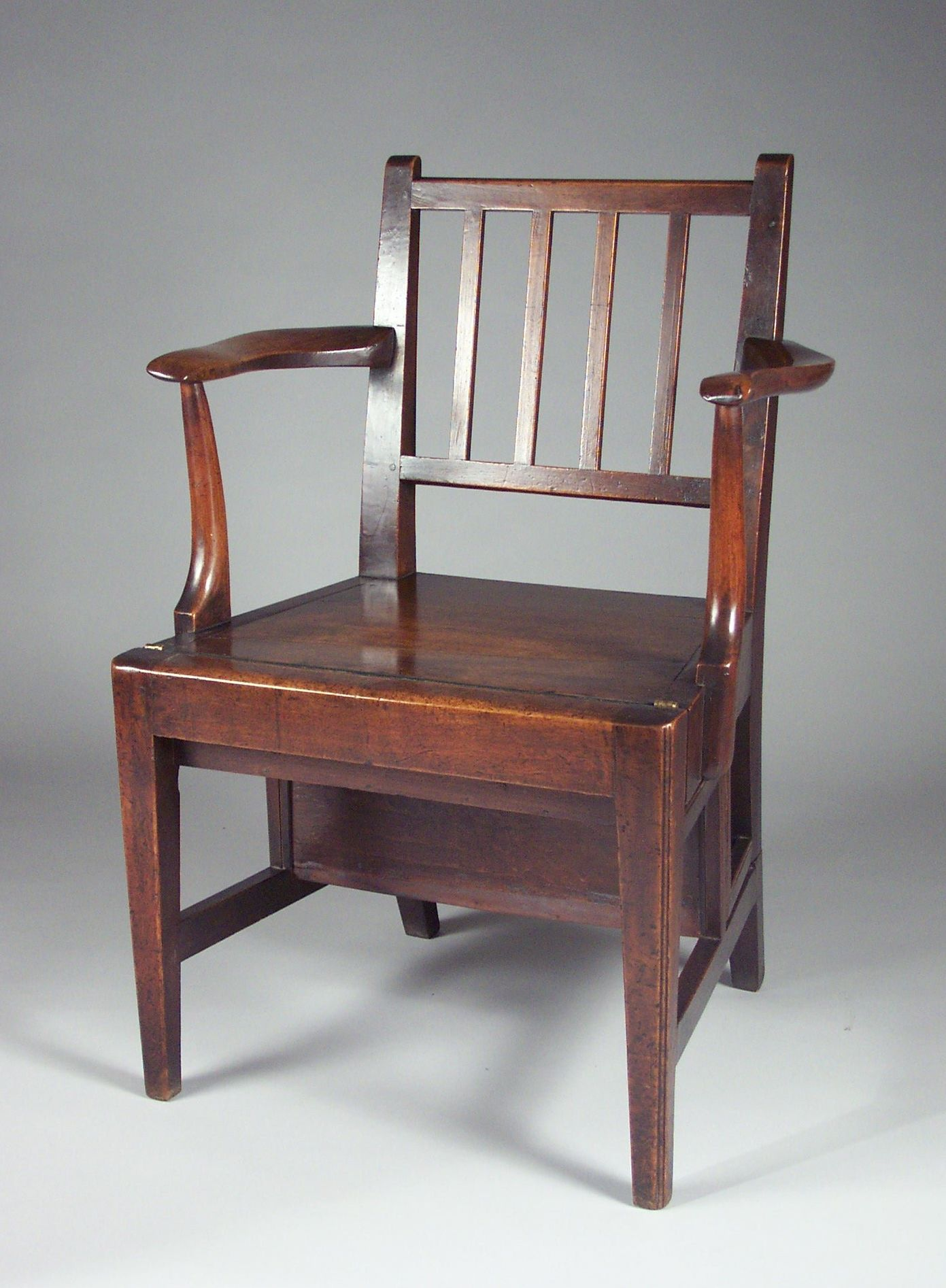 Antique George Iii Walnut Metamorphic Library Chair Steps