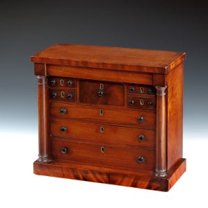 ANTIQUE MINIATURE SCOTTISH CHEST OF DRAWERS