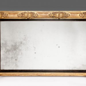 ANTIQUE 19TH CENTURY GILT OVERMANTEL MIRROR