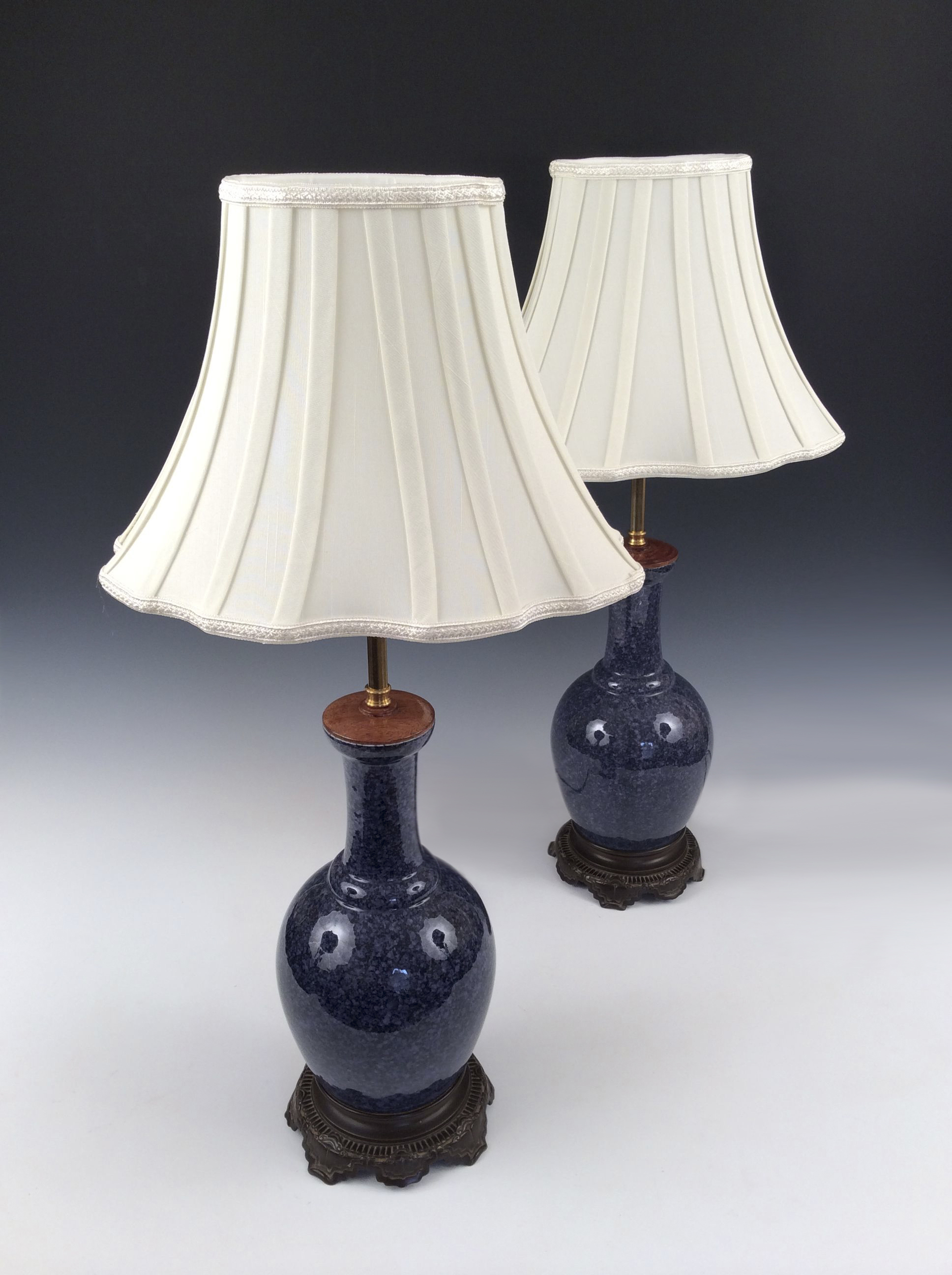 pair table lamps chinese blue vases antique 5738 1 5738. Black Bedroom Furniture Sets. Home Design Ideas