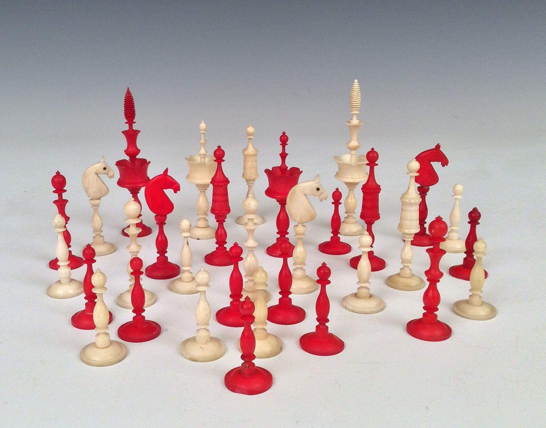 Antique early 19th century selenus chess set - Collectible chess sets ...
