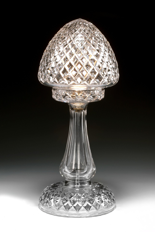 antique diamond cut glass table lamp richard gardner. Black Bedroom Furniture Sets. Home Design Ideas