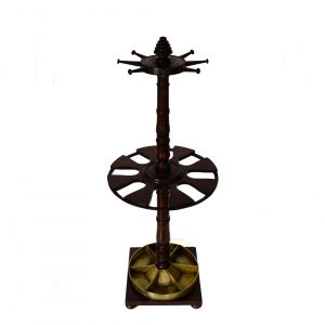 ANTIQUE 19TH CENTURY MAHOGANY CROP & STICK STAND