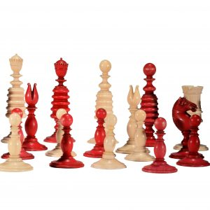 ANTIQUE EARLY 19TH CENTURY IVORY CHESS SET