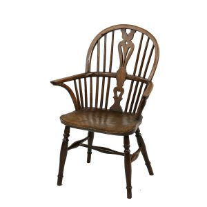 ANTIQUE CHILDS ASH & ELM WINDSOR ARMCHAIR
