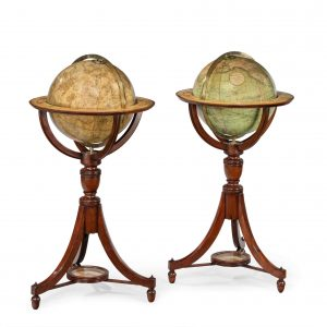 FINE PAIR OF GLOBES BY CARY