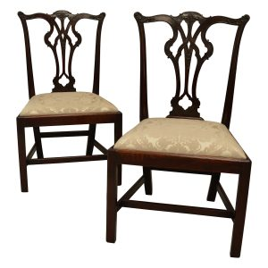 FINE PAIR OF ANTIQUE GEORGIAN MAHOGANY SIDE CHAIRS