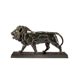 ANTOINE LOUIS BARYE BRONZE LION ANTIQUE UK