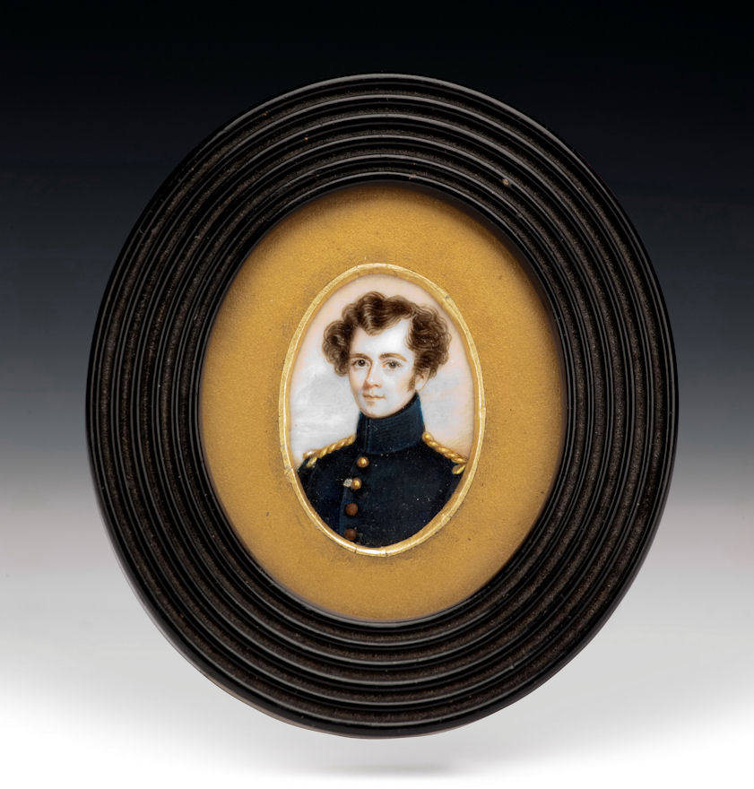 PORTRAIT MINIATURE OF A SOLDIER