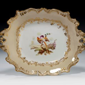 ANTIQUE COALPORT DISH ATTRIBUTED TO RANDELL
