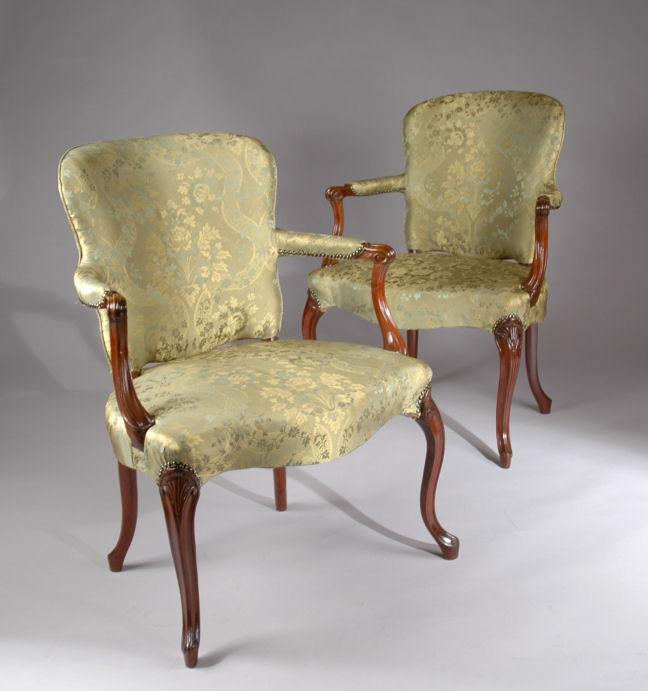 pair armchairs in hepplewhite taste richard gardner antiques