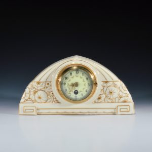 FRENCH ART DECO MANTLE CLOCK ATTRIBUTED TO SUE & MARE