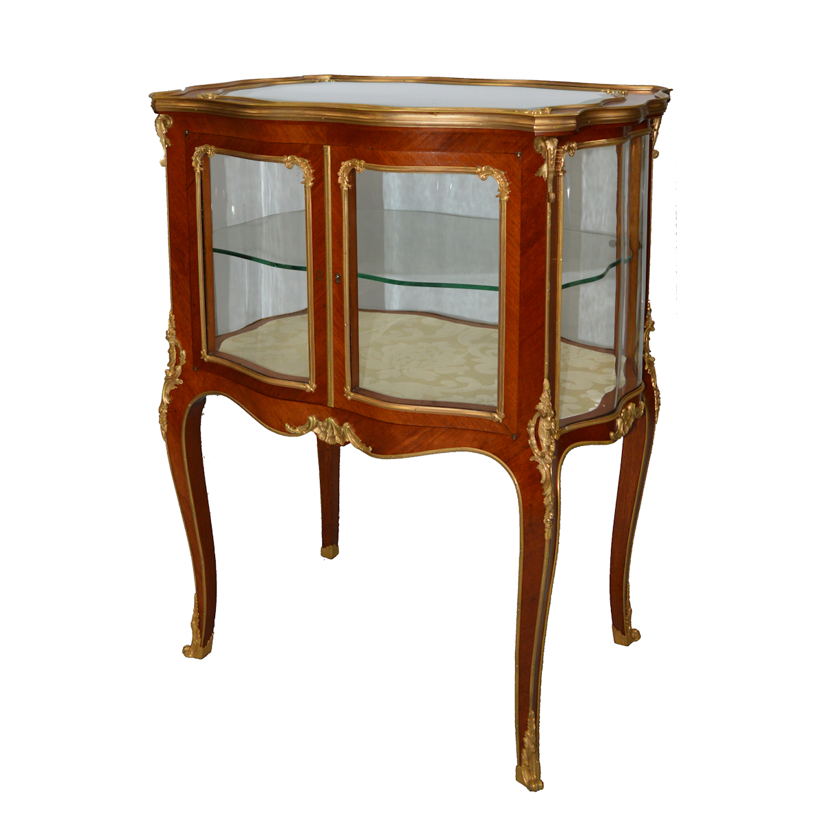 19th century rosewood and gilt bronze table vitrine for Table vitrine