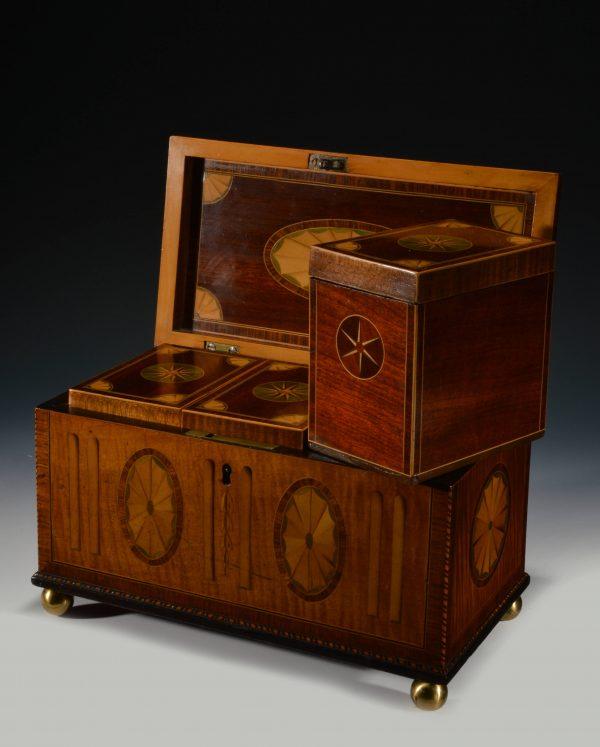 antique-tea-caddy-three-divisions-harewood-Georgian-inlaid-fans-stars-DSC_5100-1_6347