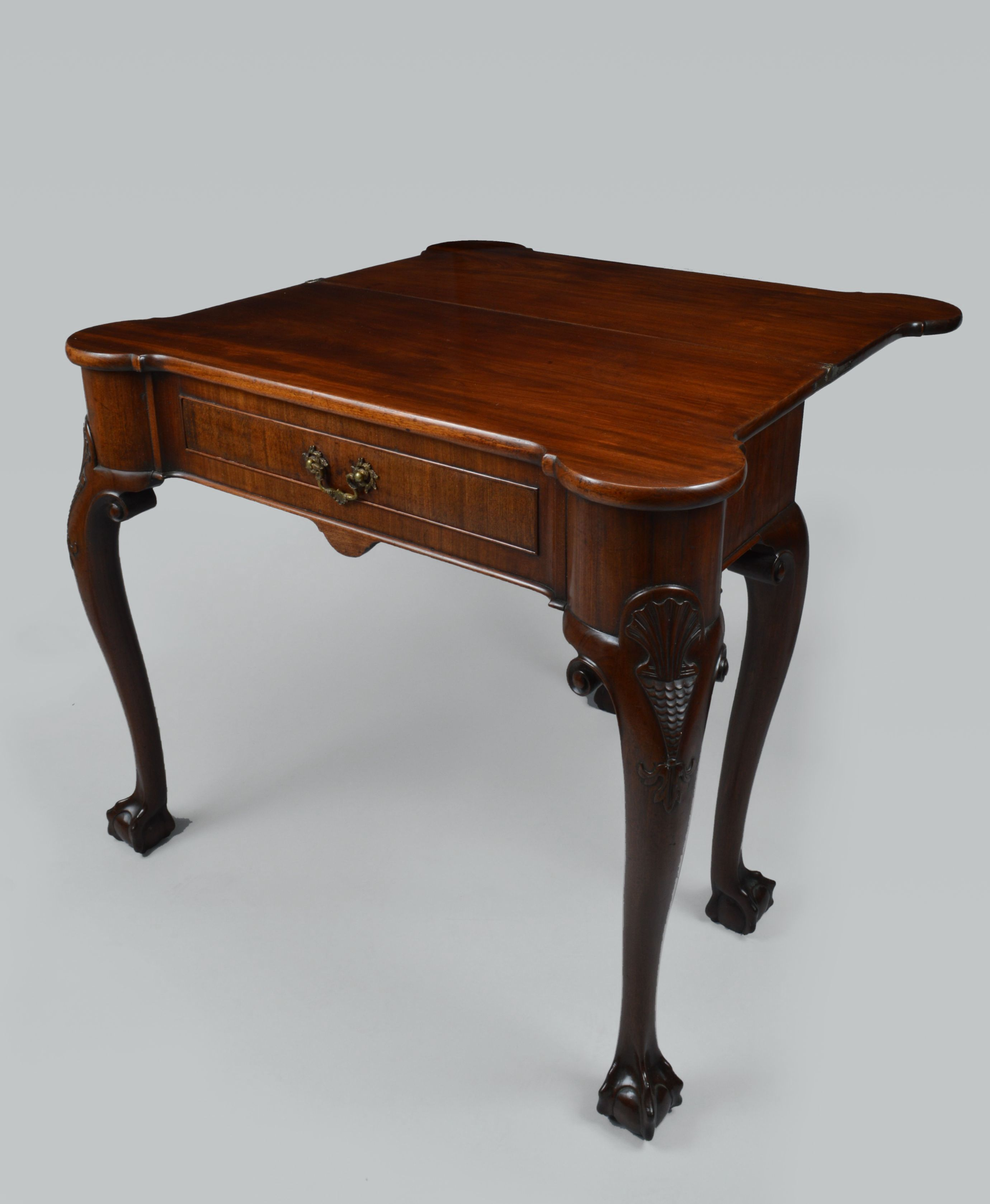 Antique regency mahogany tea table antique card tables uk antique - Antique Tea Table Mahogany Irish Foldover George Iii