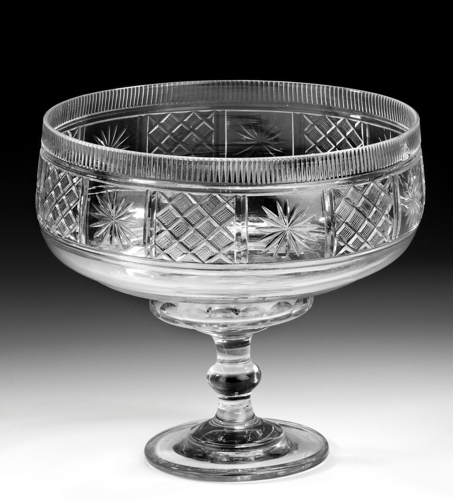 Antique irish cut glass fruit bowl How can i cut glass at home