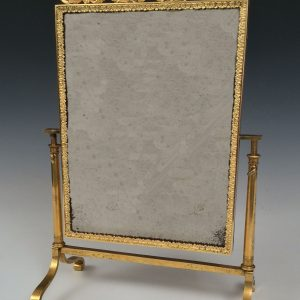 ANTIQUE ORMOLU GILT BRONZE VIENNESE MINIATURE DRESSING TABLE MIRROR