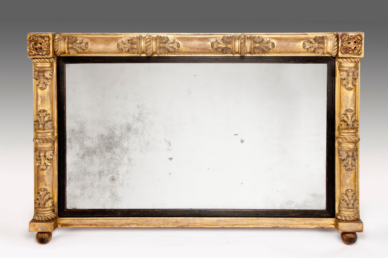 Antique 19th Century Gilt Overmantel Mirror Richard