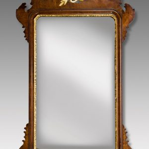 ANTIQUE MAHOGANY FRET CARVED PIER MIRROR