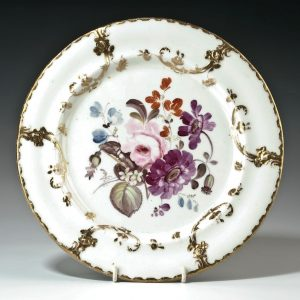 ANTIQUE CONTINENTAL PORCELAIN PLATE