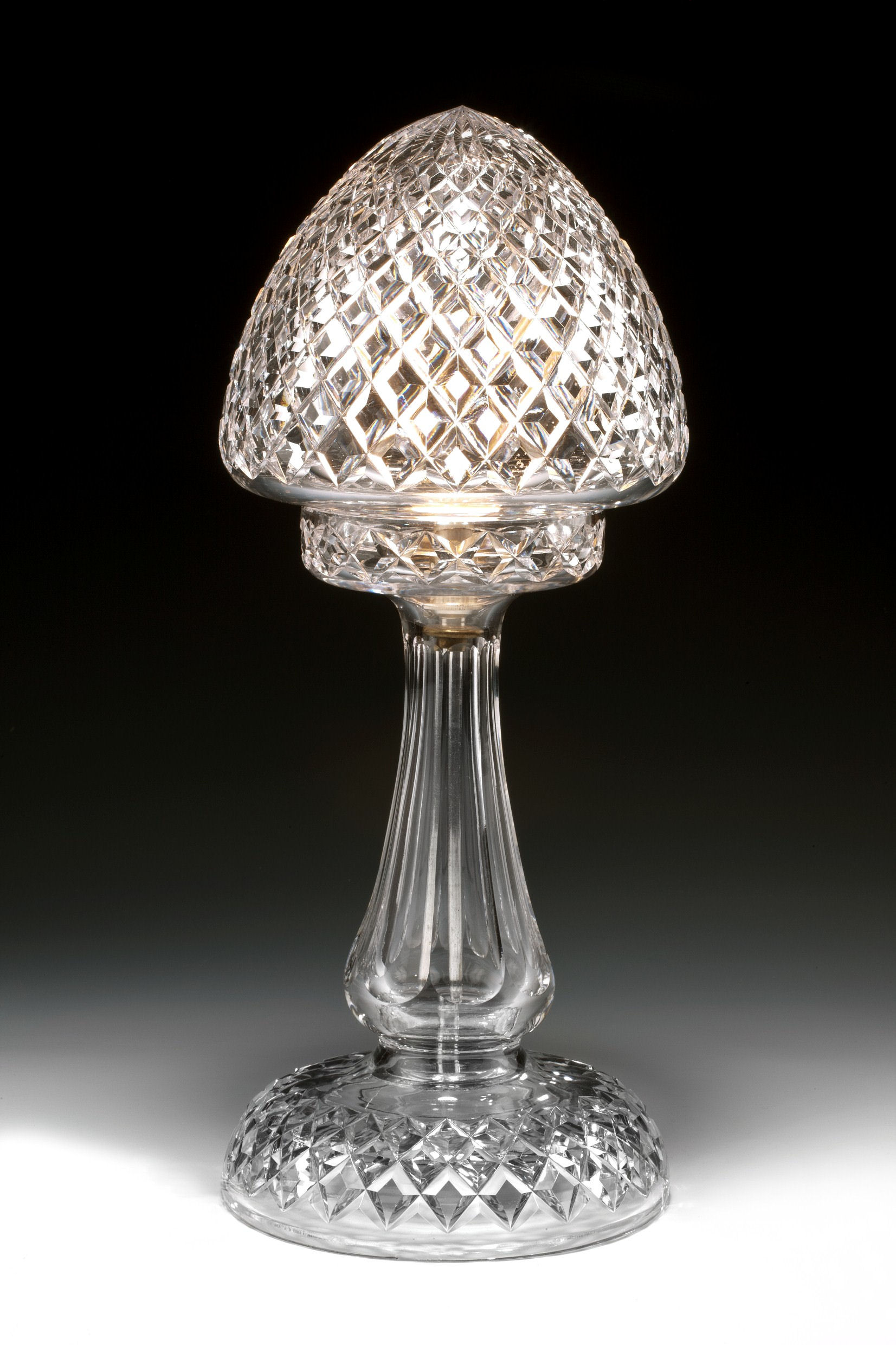 Antique diamond cut glass table lamp richard gardner antiques antique diamond cut glass table lamp mozeypictures Gallery