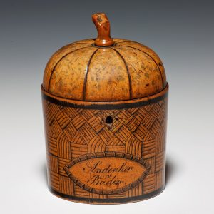 RARE ANTIQUE MELON FRUIT TEA CADDY