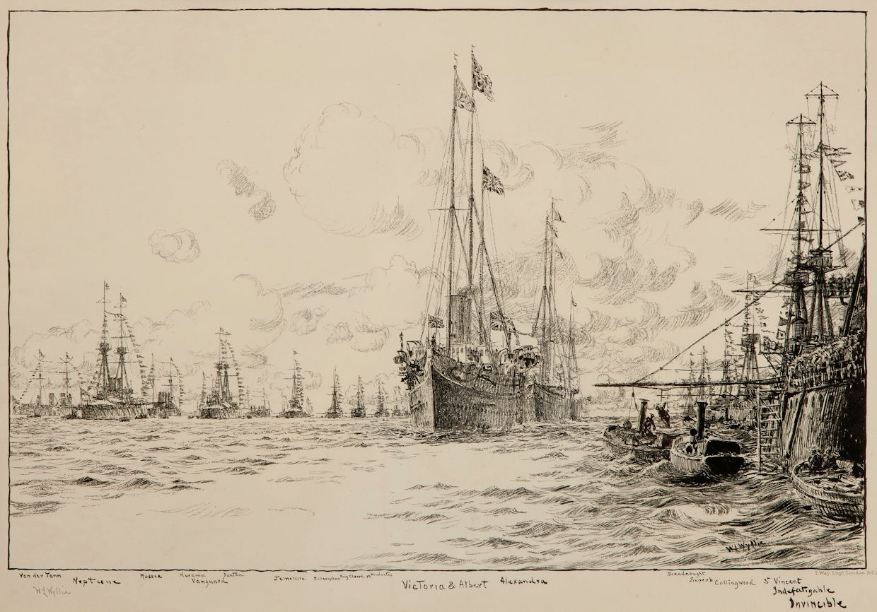 WILLIAM LIONEL WYLLIE - FLEET REVIEW