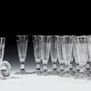 SET OF 18 ANTIQUE WINE FLUTES