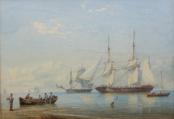 WILLIAM JOY MARINE WATERCOLOUR FOR SALE AT RICHARD GARDNER ANTIQUES