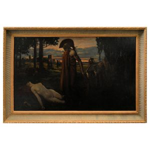 KARL LUDWIG HASSMANN OIL PAINTING ARCHILLES AND PENTHESILEA