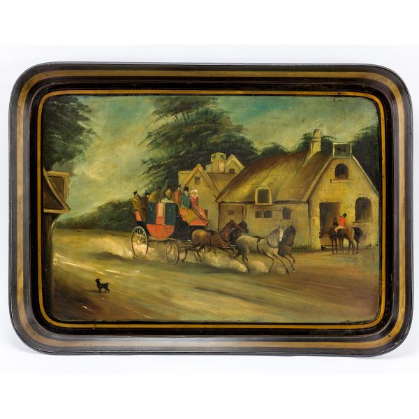 ANTIQUE REGENCY PAPIER MACHE TRAY