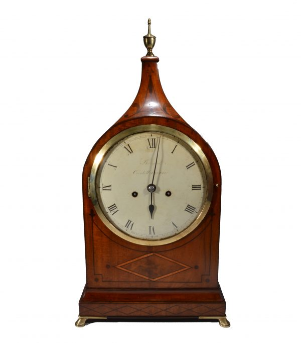 ANTIQUE MAHOGANY BRACKET CLOCK BY BARRAUD OF LONDON