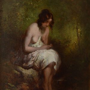 WILLIAM ETTY-OIL PAINTING-FEMALE NUDE