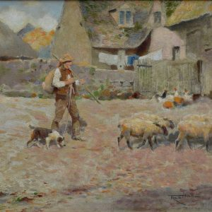 FREDERICK (FRED) HALL-OIL PAINTING-A BERKSHIRE FARM