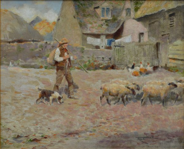 FRED HALL-OIL PAINTING-A BERKSHIRE FARM