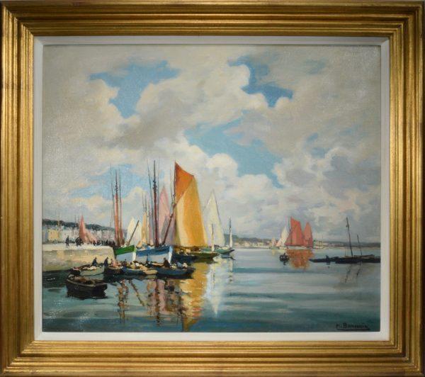 henri-alphonse-barnoin-oil-painting-concarneau-harbour-for-sale-DSC_9661