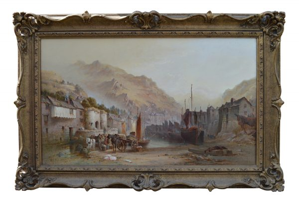 william-gibbons-oil-painting-west-country-marine-harbour-scene-for-sale-DSC_9672b