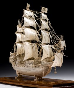 IVORY SHIP MODELS AT RICHARD GARDNER ANTIQUES
